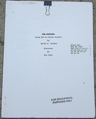 The Sentinel Scripts, Many Episodes