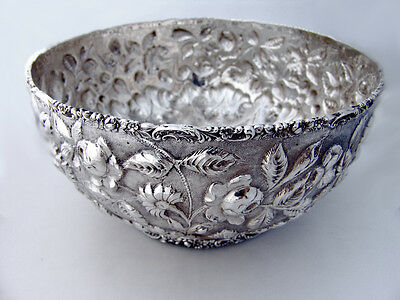 Sterling Silver Repousse Serving Bowl Stieff Silversmiths Baltimore 1894 -1904
