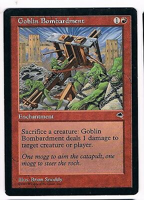 MTG. Magic the Gathering. Goblin Bombardment. NM. Tempest.