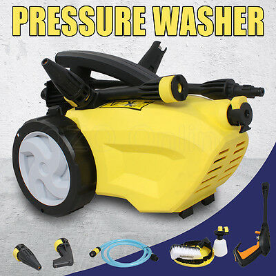 Portable High Pressure Water Washer Cleaner Electric Gurney Hose Pump Cleaning