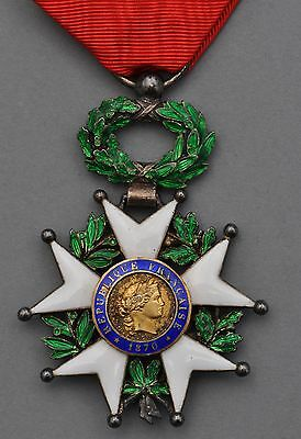 1870 IIIrd REPUBLIC  FRENCH ORDER LEGION OF HONNOR KNIGHT'S MEDAL