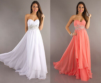 New Long Chiffon Evening Formal Party Ball Gown Prom Dress Bridesmaid Dress 6-16