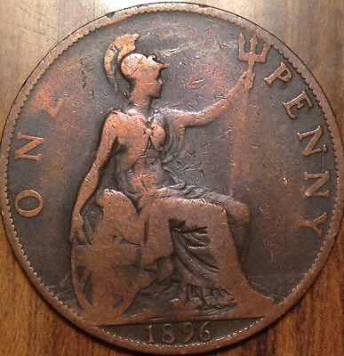 1896 Gb Uk One Penny