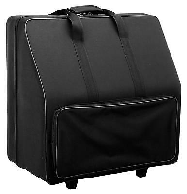 Accordion Trolley Bag Transport Case Gigbag 96 Bass Wheeled Padded Handle Black