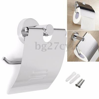 Chrome Wall Mounted Bathroom Stainless Steel Toilet Paper Holder Roll Tissue Box