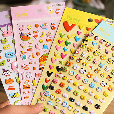 DIY Lovely 3D Bubble Sponge Stickers Cartoon Soft Animal Sticker for Kids Gift