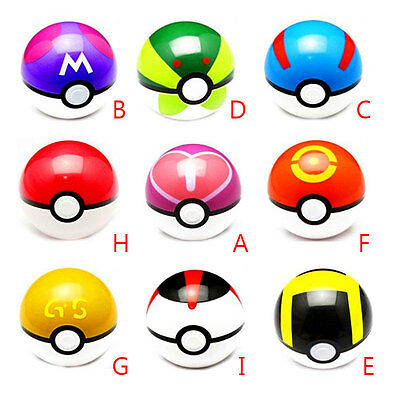 9Pcs/Set For Pokemon Pikachu Pop-Up 7CM Poke Ball Toys Gifts For Kids Fans