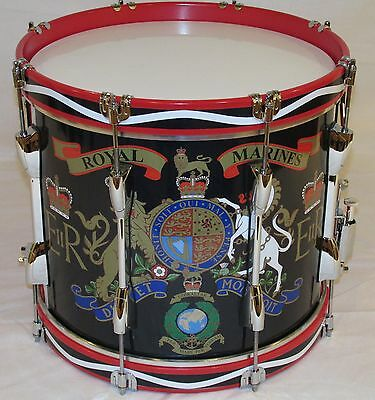 Royal Marines/ Cadet Marching Snare Drum, Traditional wood hoop MSD