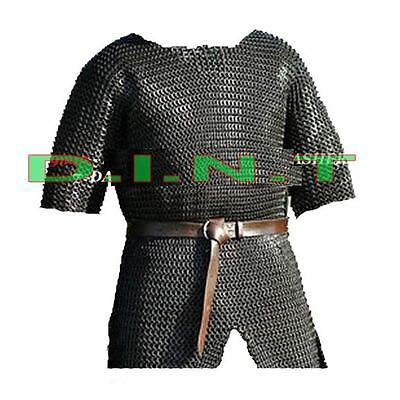 CHAINMAIL SHIRT ARMOUR LARGE FULL SLEEVE rk7