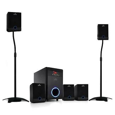 Home Pc Laptop Speakers Surround Sound System 95 W Rms 5.1 2.1 *free P&p Offer