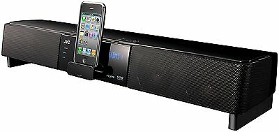 JVC Network Theatre Sound Bar Music System with iPhone/iPod Dock & HDMI - BLACK