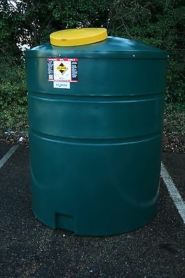 Ecosure 2000 ltr Tall Bunded Waste Oil Tank Green MDPE Plastic - UK Made