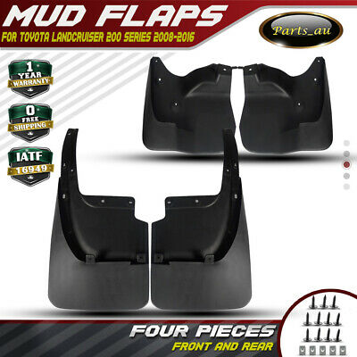 4x Mud Flap Splash Guards for Toyota Landcruiser 200 Series 2007-2016 Front&Rear
