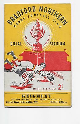 Bradford V Keighley 1950 Rugby League Cup Programme England Australia