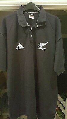 Vintage New Zealand All Blacks Rugby Union Home Shirt XL Men's - Adidas