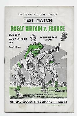 England V France 1957 Rugby League Test Match At Wigan Great Britain Australia