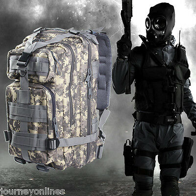3P  Military Tactical 30L Oxford Backpack for Camping Traveling Hiking Trekking