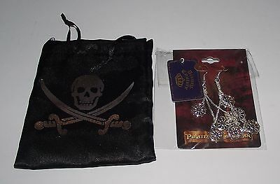 Rare Disney Couture Pirates Of The Caribbean Ear Rings With Pouch New