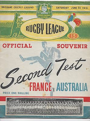 Australia V France 1951 Rugby League Test Match At Brisbane England New Zealand