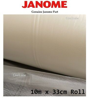 JANOME WATER SOLUBLE STABILISER ROLL 10m x 33cm Water Wash Away Dissolvable FILM