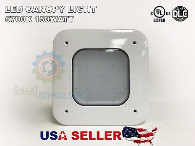 Canopy 150W LED Light Drop Lens Gas Station with Mounting UL/DLC 10yr NEW DESIGN