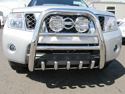 Nissan Navara D40 2010-2015 Stainless Steel TIGER Front A-Bar - BULL Bar - 70mm