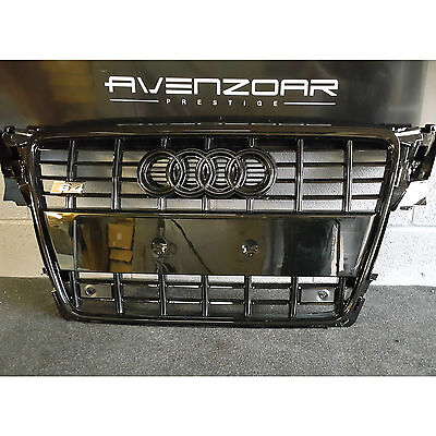 Xb Grille For Audi A4 To Rs4 S4 B8 Se S Line All Gloss Black Frame Mesh 08 - 12