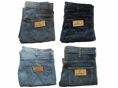 Mens W121 Cut Label Texas Stretch Wrangler Jeans Pants Straight Leg