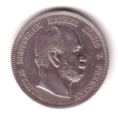 ALEMANIA: 5 marcos 1874 A Prusia - Germany 5 mark 1874 A Prussia