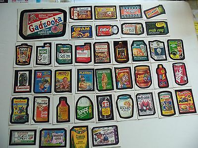 Lot of 42 1986 Wacky Packages Stickers TEST ISSUE as removed from packages