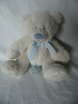 Russ Berrie Lullaby Teddy Bear Soft Toy Cream  Baby Comforter 9""