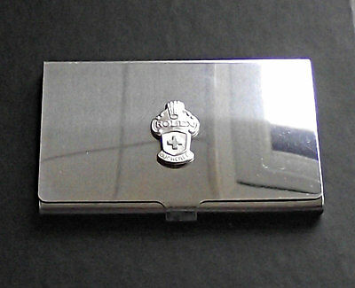 Genuine Rolex Stainless Steel Credit Card Holder with Silver Collectors Spoon