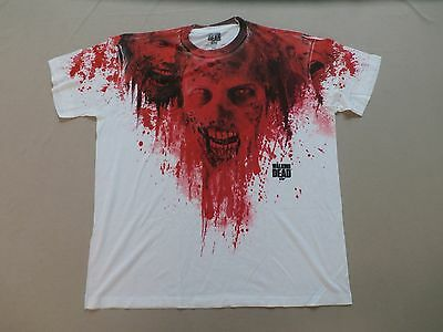 The Walking Dead Men's Short Sleeve Graphic T-Shirt White/Red GG8 Size 2XL New