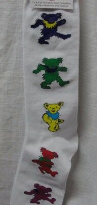 Grateful Dead Dancing Bear Socks Mens White