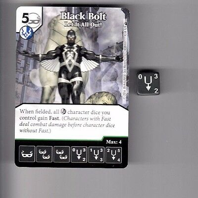 Dice Masters Deadpool Uncommon #45 Black Bolt Let It All Out! Card & Dice