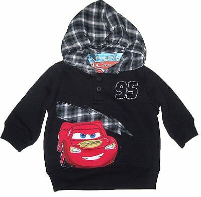 Disney Cars Boys Hooded Sweater Pullover Infant Baby Size 12 Months New With Tag