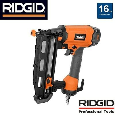 Ridgid ZRR250SFE 16-Gauge 2-1/2 in. Straight Finish Nailer Nail Gun R250SFE