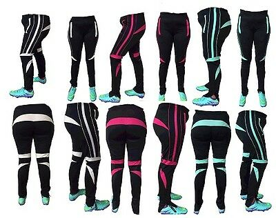 Rhinox Women's Skinny Soccer Pants Training Sweat Sport Gym Athletic Tight fit