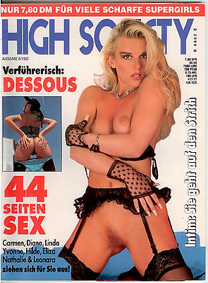 High Society Nr.6/1992 - Dessous - Vintage Farbfoto-Magazin