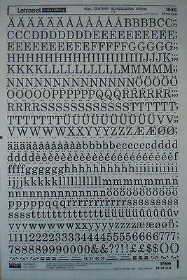 LETRASET Rub On Transfers CENTURY SCOOLBOOK 42pt 11.2mm (#1596) NEW