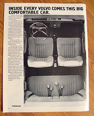 1972 Volvo Ad Inside Every Volvo Comes this Big Comfortable Car