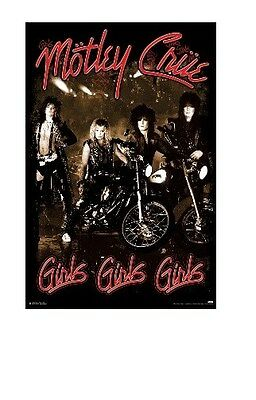 MOTLEY CRUE ~ GIRLS, GIRLS, GIRLS! ~ 24x36 Classic Rock Poster ~ NEW/ROLLED!