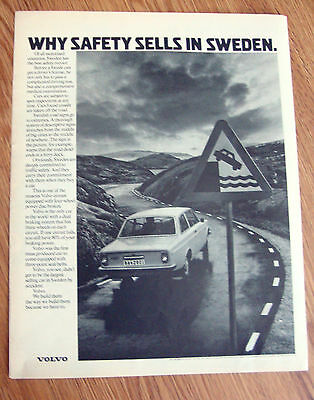 1972 Volvo Ad A  Why Safety Sells in Sweden