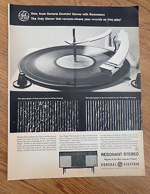 1960 GE General Electric Stereo Ad   Resonant Stereo