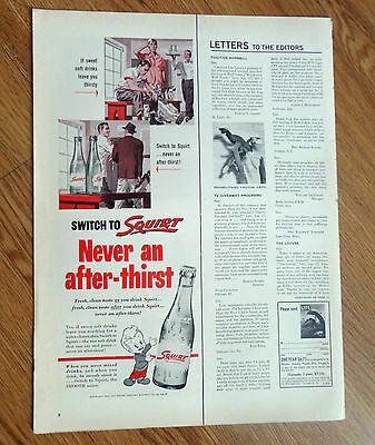 1953 Squirt Soda Ad  Golfing Theme