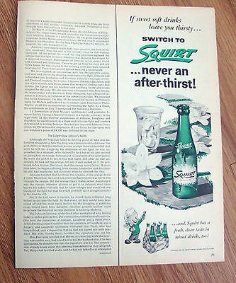 1955 Squirt Soda Ad   Never an After-Thirst