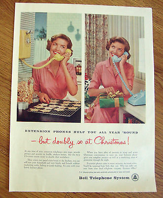 1958 Bell Telephone Ad  Extension Phones