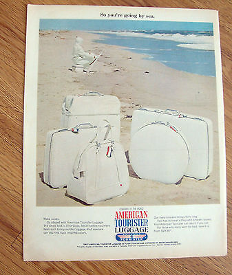 1967 American Tourister Luggage Ad  So You're Going by Sea