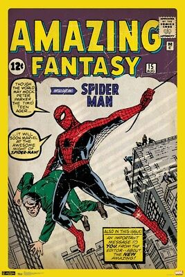 SPIDER-MAN - COMIC BOOK COVER POSTER - 24x36 MARVEL CLASSIC AMAZING 5700