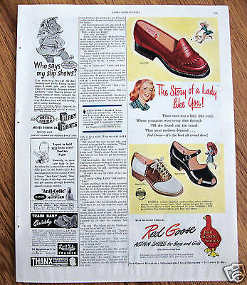 1947 Red Goose Shoes Shoe Ad  The Story of a Lady